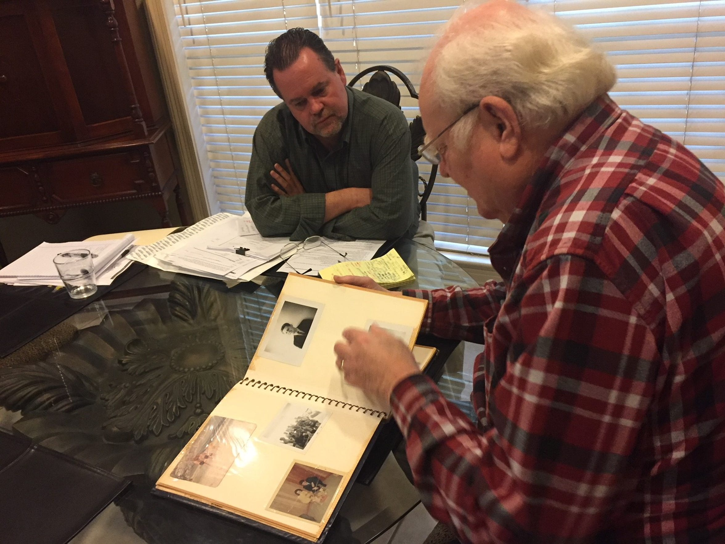 Kevin Foote, in January 2017,  interviews Guy Barnett, a retired sheriff's deputy and state trooper who investigated the murder of Russell Foote.