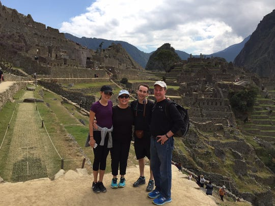 Michigan Attorney General Bill Schuette with, from left, daughter Heidi, 25, wife Cynthia, and son Bill, 22, during a 2017 family trip to Peru.