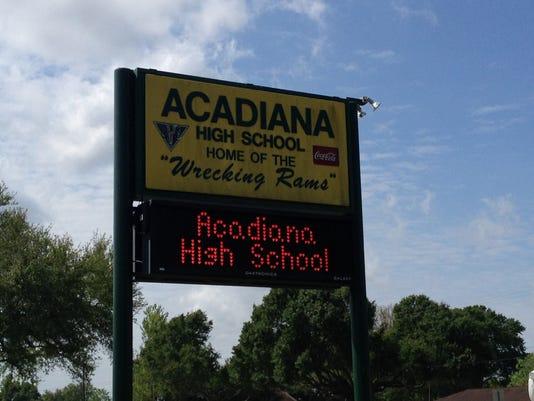 Acadiana High sign