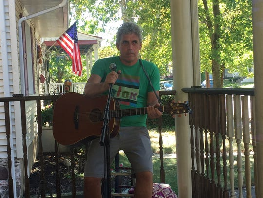Barry Hollander performs during Porchfest last fall