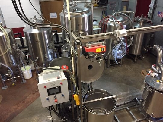 An overhead view of the brewhouse at Westville Brewery.
