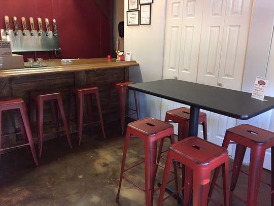 The tasting room of Westville Brewery.