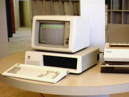 This is an undated file photo of The original IBM 5150