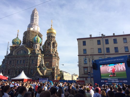 The Church of the Savior on Spilled Blood In Saint Petersburg at Fan Fest.