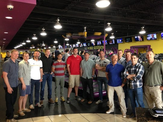 At Planet Fitness on June 11, from left are Lt. Col.