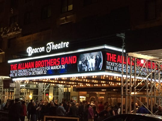 New York's Beacon Theatre is home to the Allman Brothers Band's final series of shows.