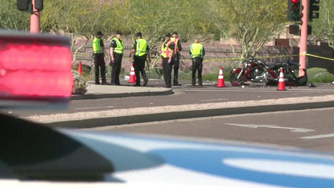 Two motorcyclist were hit and killed in Scottsdale Saturday, March 28, 2015, while participating in a charity ride.