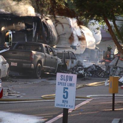 Small airplane crashes into Sparks RV park