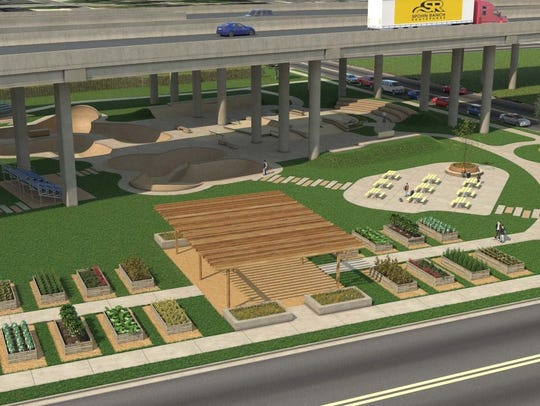A rendering shows what the Blake Doyle Community Park