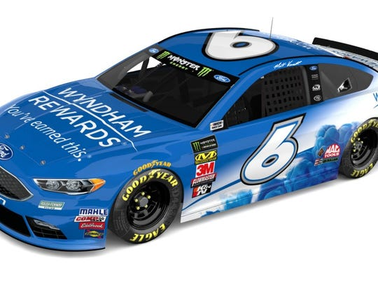 The Roush Fenway Racing No. 6 Wyndham Rewards Ford