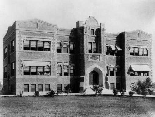 Tempe High School opened in 1908.
