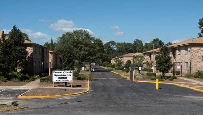 Forest Creek Apartments, built in 1977, has continuous flooding issues. The complex is located right next to Jones Creek, with some of the land in former wetlands.
