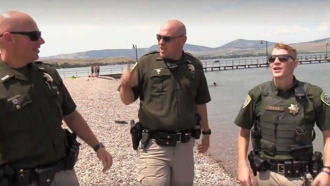 Screenshot of the Montana Highway Patrol's 'lip sync challenge.'