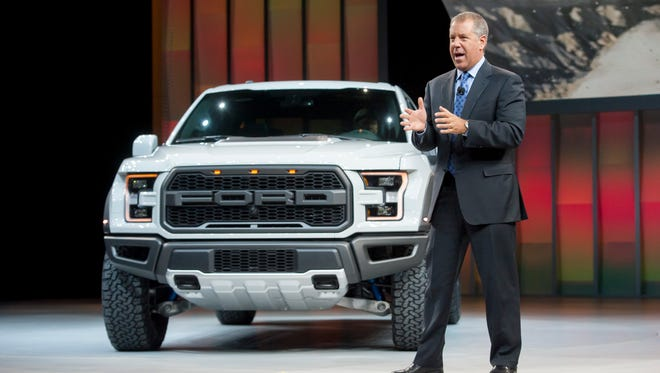 Joe Hinrichs, Executive Vice President and President, The Americas, talks about the 2017 Ford F-150 Raptor.