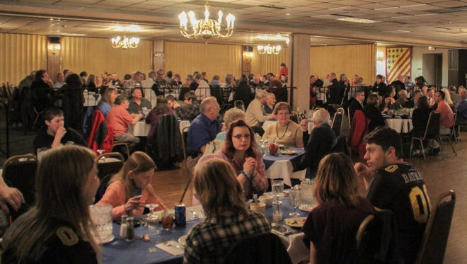More than 100 firefighters and their families attended the Chambersburg Fire Department's Appreciation Dinner on Saturday.