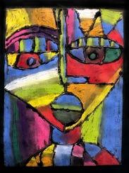"""Abstract Face"" by Wayne Brandon, 5th Grade, Kings"