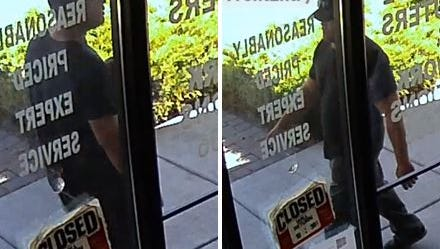 Authorities seek this man in relation to a robbery at Slushees Smoke Juice on Sept. 26.