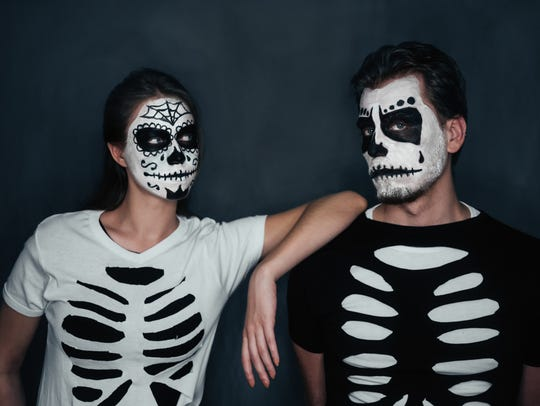 Skeletons always look better in a pair. Grab your friend