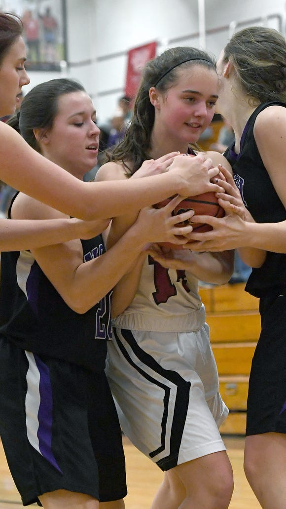 Asheville defeated North Buncombe 55-15 in girls basketball at Asheville High School on Wednesday, Dec. 13, 2017.