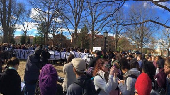 Scene from the UNC protest (Photo: Jacob Geller)