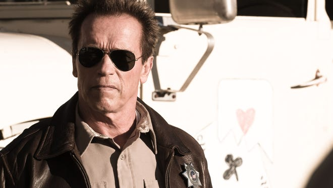 """""""Come with me if you want to live."""" Shown is actor Arnold Schwarzenegger (known for the """"Terminator"""" movies) in """"The Last Stand,"""" which was his first leading role in a decade."""