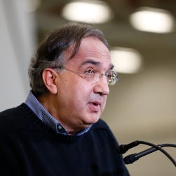 Chrysler Group LLC Chairman and CEO Sergio Marchionne speaks at the dedication a of transmission manufacturing facility in Tipton, Ind.,