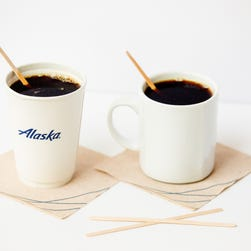 Going green: Alaska Airlines says 'so long' to non-recyclable plastic stir straws