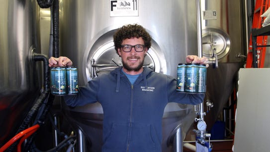 Dustin Vereker of Discretion Brewing, Soquel, displays