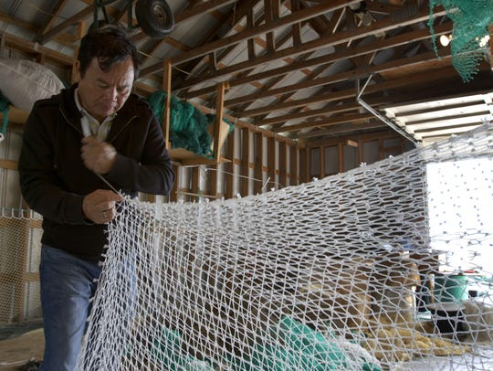 Learn about net making  during the Ostego Bay Working
