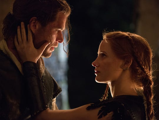 Chris Hemsworth and Jessica Chastain play two warriors