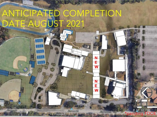 AFTER: The is a map of what a new Rickards High might