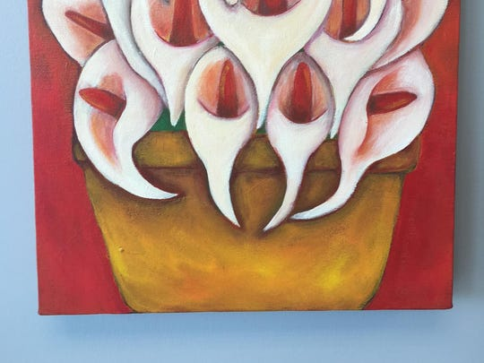 Calla lilies reminiscent of Diego Rivera by Detroit