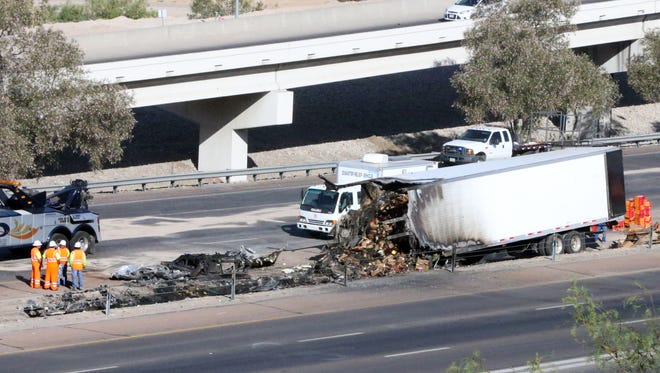 I-10 East at Sunland Park Drive remained closed until 12:30 p.m. Tuesday following a deadly crash Monday.evening.