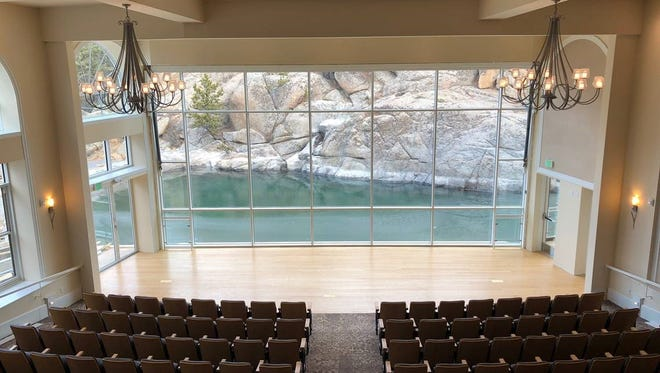 The new Stanley Hotel amphitheater and pavilion will officially open in April.