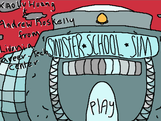 """A screen shot from the computer game """"Sinister School"""