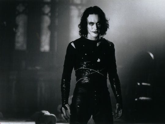 Brandon Lee in a scene from 'The Crow '