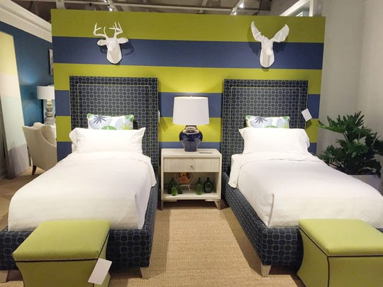 """Hillary twin beds from Vanguard Furniture's """"Make It"""