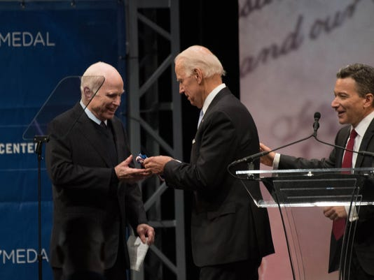 At Liberty Medal ceremony, McCain blasts 'half-baked' nationalism