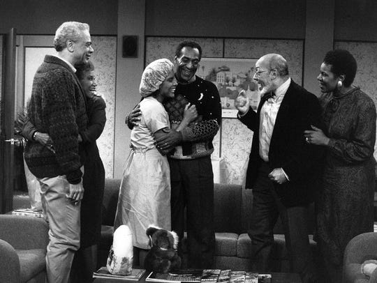 Earle Hyman is Russell Huxtable, left, in a scene from