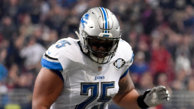 Lions right guard Larry Warford.