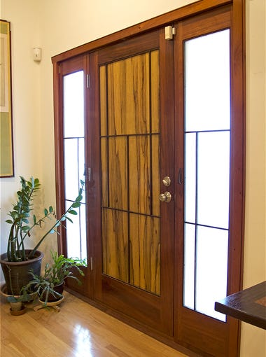 Glantz replaced the front door, as well as many interior