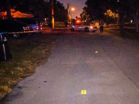 The scene of the shooting on Clifton Drive.