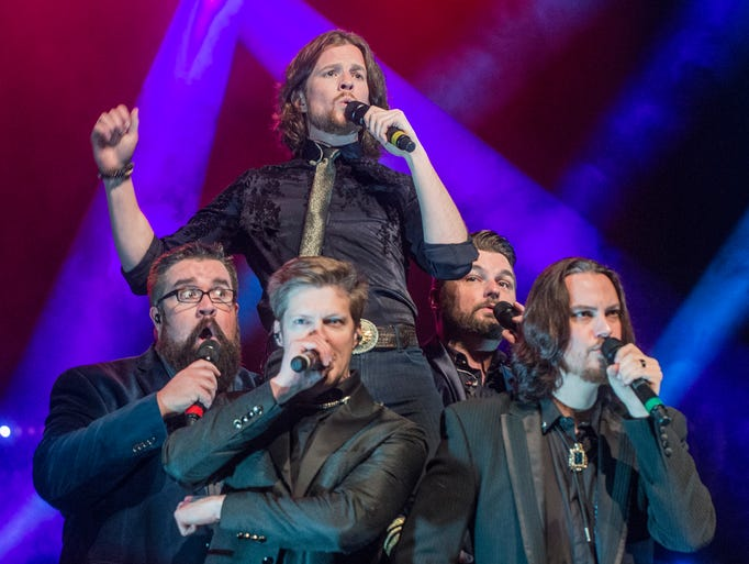 All-vocal country group Home Free sings in concert
