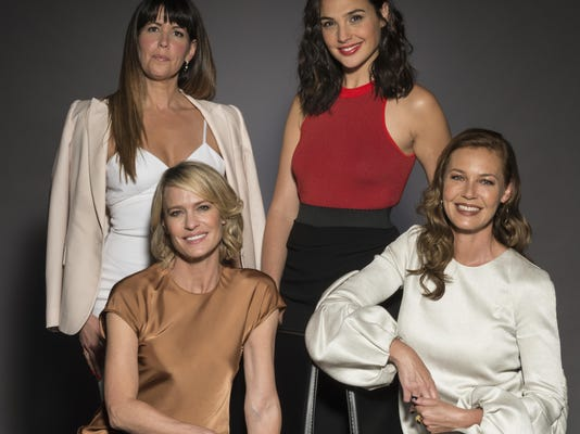 Patty Jenkins,Robin Wright,Gal Gadot,Connie Nielsen