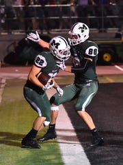 Christian Hutchinson (88) celebrates Connor Garry's