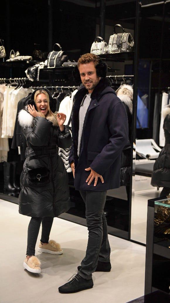 Corinne took Nick shopping, natch.