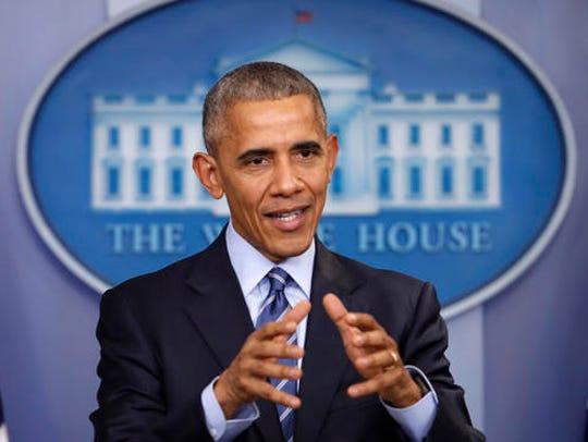 In this photo taken Dec. 16, 2016, President Barack
