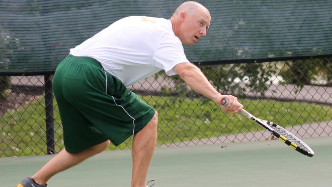 Sycamore tennis coach Mike Teets.