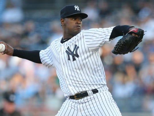 May 30, 2018; Bronx, NY, USA; New York Yankees starting