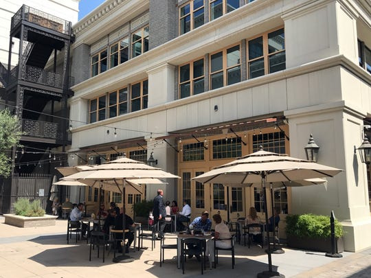 Portobello's offers outdoor dining in the inner courtyard at the Taylor Building